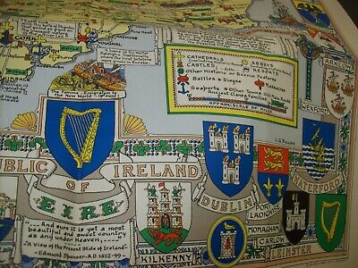 ireland  historical  map by l.g.bullock published  britain /edinburgh