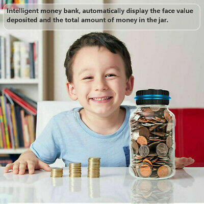Piggy Bank Digital Bank Jar Large Digital Coin Counting Automatic Counting Coin