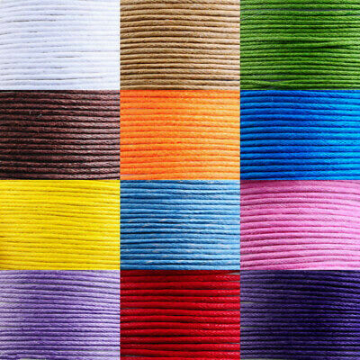 10 x 10m Waxed Cotton Strings Cords Bead Ropes Necklace Bracelet Craft Making