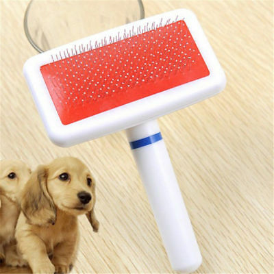 Pet Puppy Dog Cat Hair Shedding Grooming Trimmer Fur Comb Brush Slicker Tools