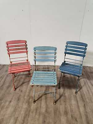 Job Lot 40 Vintage French Bistro Folding Outdoor Side Chairs Cafe Restaurant Pub