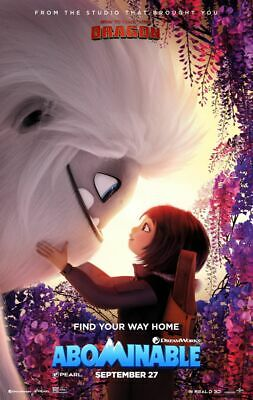 Abominable - original DS movie poster - 27x40 D/S 2019 Advance B Animation