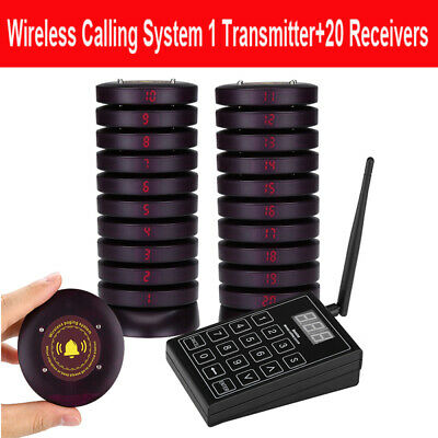 SU-680 Wireless Guest Paging Cafe Bakery Restaurant Caller System + 20pcs Pagers