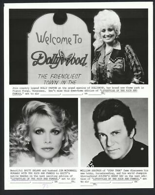 1986 WILLIAM SHATNER DOLLY PARTON Lifestyles of the Rich & Famous Original Photo