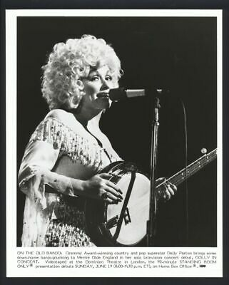 1983 DOLLY PARTON On Stage Vintage Original Photo COAT OF MANY COLORS