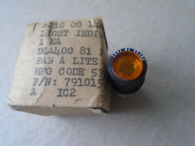 1 Ea Nos Pan-A-Lite Amber Push-To-Test Indicator Light  P/N: 791015-8Tl