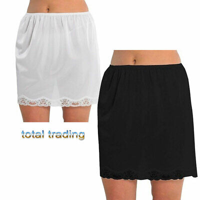 "Ladies Women waist slips anti cling new shorter 23"" length with lace"