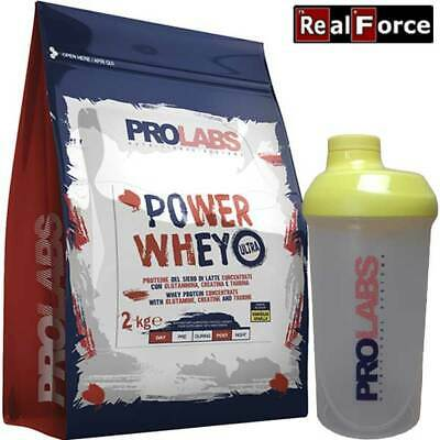 PROLABS POWER WHEY PROTEIN ULTRA 2000 g,PROTEINE SIERO,REAL FORCE +SHACHER, 2Kg