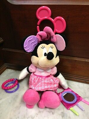 Kids Preferred Disney Baby Activity Toy Minnie Mouse Pink Rattle Rings Teether