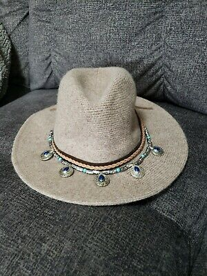 d21393c66 FLOPPY HAT SUEDE Leather Hat Studded boho hat Sueded leather Brown ...