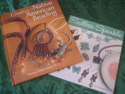 Jewelry making BOOK LOT Beadwork Native American Beading Geary Endless Sparkle