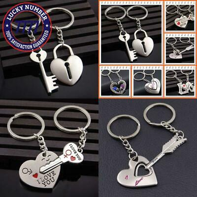 8d79da8dcf80e PERSONALIZED COUPLE KEY Chain Heart and Key Matching Custom Names ...