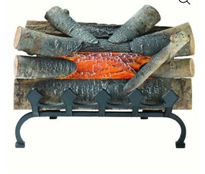 Pleasant Hearth Crackling Electric Fireplace Logs Realistic Wood Log 20 Inch
