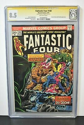 Fantastic Four #144 1974 CGC Grade 8.5 Signature Series Signed by Gerry Conway