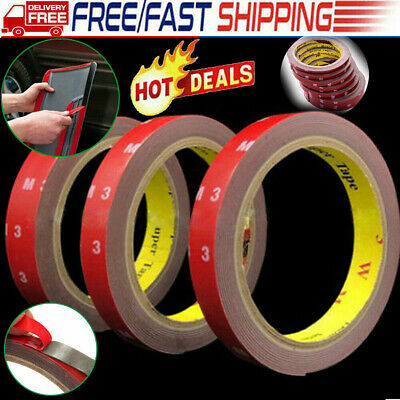 3M Strong Permanent Double Sided Super Self Adhesive Sticky Tape Roll 5-20MM UK
