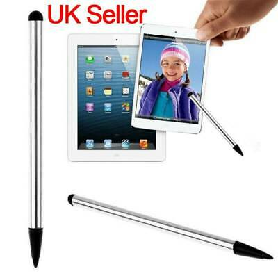 Silver 2 in1 Touch Screen Pen Stylus Fit iPhone iPad Samsung High Accuracy Red