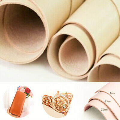 Purse Leather Fabric Craft Making Material Scrap Sew DIY Cowhide Natural