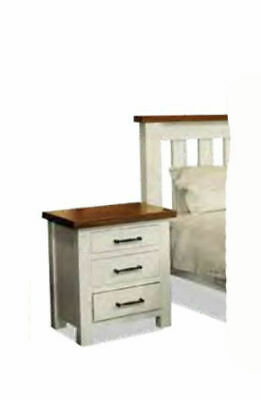 Irwing Two Tone 3 Drawer Timber Bedside Table