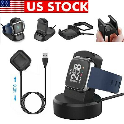 For Fitbit Versa / ionic Smart Watch USB Charging Cable Charger Dock Station
