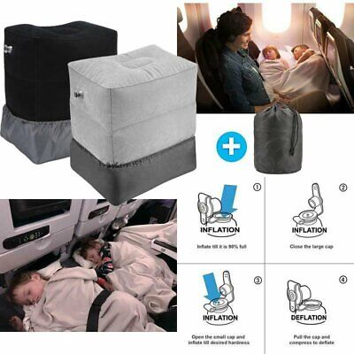 Inflatable Travel Foot Rest Pillow Kids Bed Airplane Bed Adjustable Height Leg
