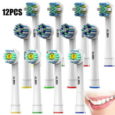 UK 12X Precision Electric Toothbrush Replacement Brushes Heads For Oral B Braun