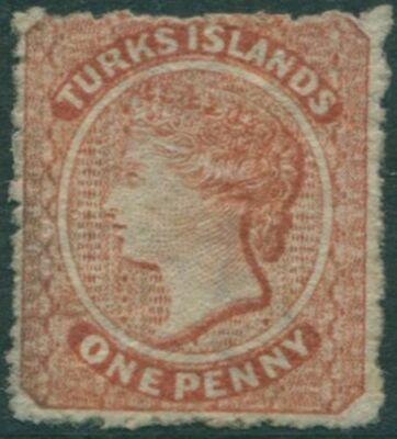 Turks and Caicos Islands 1867 SG55 1d brown QV MNG
