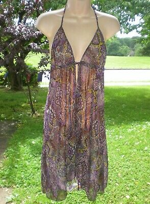 66248ccd5460d VICTORIA'S SECRET SWIM Cover Up Lounge Dress Sheer Bling Beach Pool ...