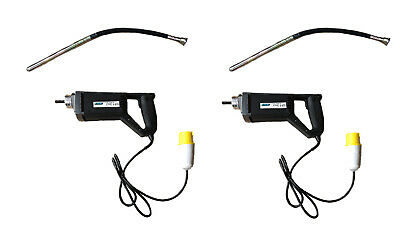 2 x CONCRETE VIBRATING POKERs 110 v new 12 mth warranty