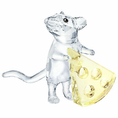Swarovski MOUSE WITH CHEESE # 5464939 Crystal  new 201956.95