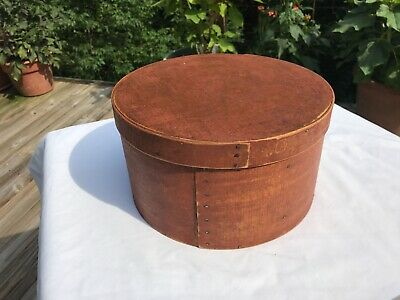 Antique Painted Bittersweet Pantry Box AAFA Paint Wood Woodenware red firkin