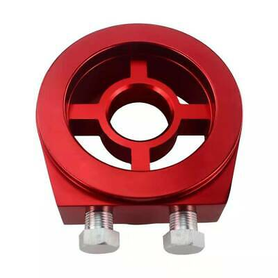 Universal Car Modification Cake Oil Temperature/Pressure Gauge Adapter Plate Red
