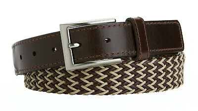 New Men's Leather Dress Belt Casual Belt For Jeans Braided Belt Made In USA