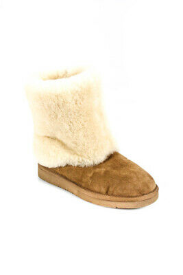 f1fa3b66269 UGG AUSTRALIA 5381 Brooks Brown Leather Shearling Boots Women's Size ...