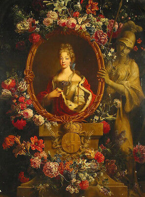 """oil painting  """"Portrait of Maria Luisa Decorated with Flowers """"@NO10008"""