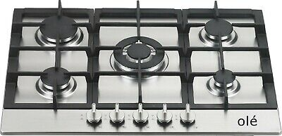 70cm Stainless Steel Heavy Duty Cast Iron 5 Burner GAS Cooktop - BRAND NEW INBOX