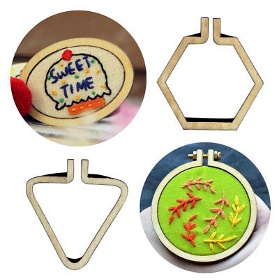 Art Hand Stitching Cross-Stitch Frame Embroidery Hoop Pendants Necklaces Gift