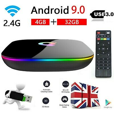 Quality Superview Q-BOX Q+ Q Plus 4GB/32GB Amlogic Android 9.0 WIFI Smart TV BOX