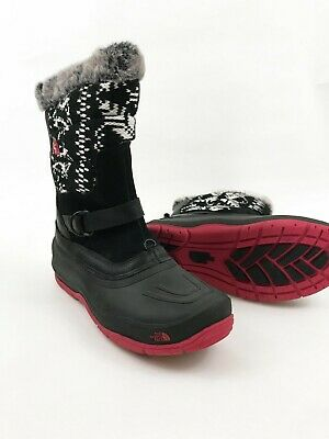 7ed408be7 NWT NORTHFACE SNOW boots girls black and pink size 5 - $60.00 | PicClick