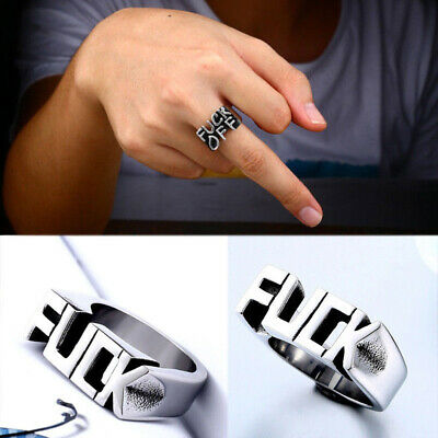 Stainless Steel Cool Gothic Punk Biker Finger Rings Jewelry Rock Ring For Men