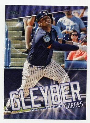 2019 Topps GLEYBER TORRES ROOKIE HIGHLIGHTS INSERT CARD #GT-10 New York Yankees