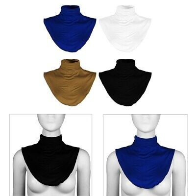 Womens Cotton Fake Turtleneck Half Top Mock Blouse Dickey Collar Neck Warmer