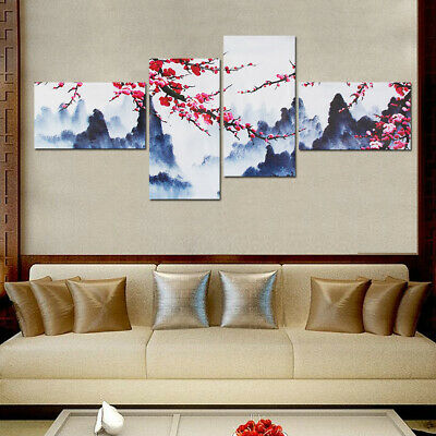 Plum Blossom Canvas Modern Wall Art Painting Picture Print Unframed Home Decor