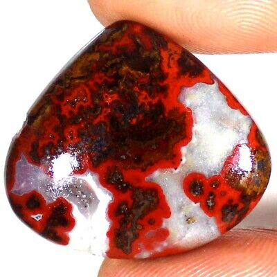 SEAM AGATE 41.10 Cts 100% Natural Morocco Heart Cabochon 31x27x6 mm Gemstone