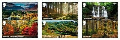 GB Stamps 2019 New release 'Forests' 3x pairs - U/M