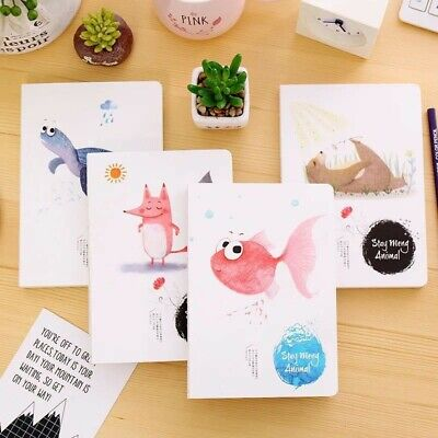 4 pcs/A5 Cute Animal Notebook Journal Diary AU stock: New