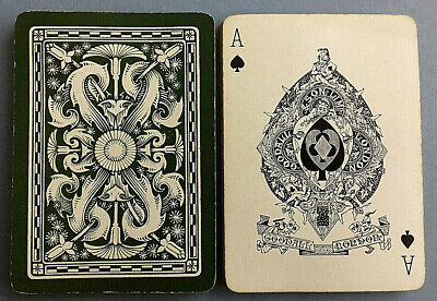 Antique Playing Cards Goodall Wide Art Nouveau Bezique 32 Card 1892 - 98