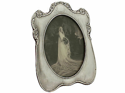 Antique Edwardian Sterling Silver Picture Frame 1906 Height 19cm
