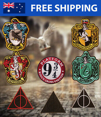 Harry Potter Embroidered Patch Embroidery Patches Slytherin Ravenclaw Gryffindor