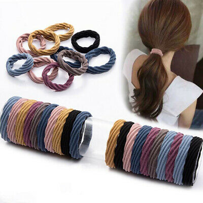 1PCS Hair Bands Solid Color Thicken Hair Ring Elastic Band Hair Ties for Women
