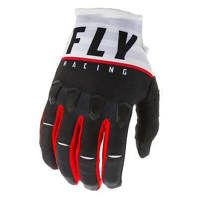 Fly Racing Kinetic K120 Mens Gloves Mx Glove - Black White Red All Sizes